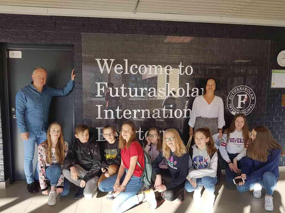 Uczniowie wraz z nauczycielami podczas wyjazdu w ramach Socrates Comenius