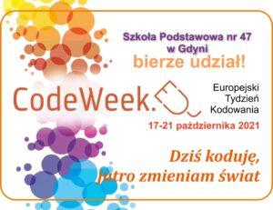 plakat Europejskiego Tygodnia Kodowania